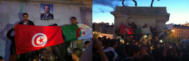 Drapeaux palestiniens, tunisiens, algériens, turcs... à Lyon