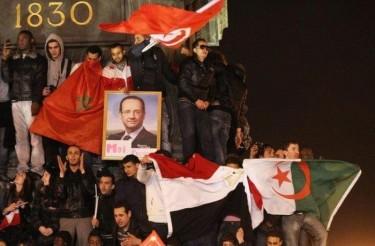 Drapeaux palestiniens, tunisiens, algériens, turcs... à la Bastille !