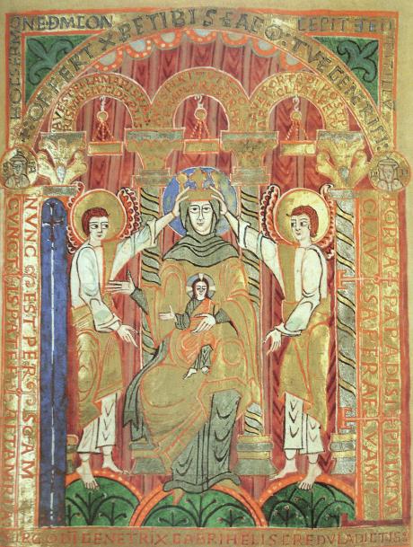 Hildesheim-evangeliaire-de-Bernward-miniature-de-la-Vierge-Portiere-fol-17r.png