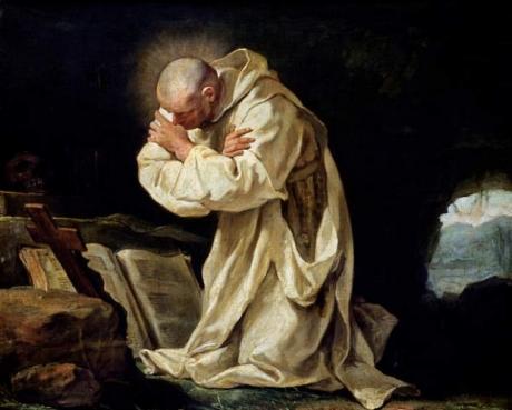 Jean Bernard Restout - St Bruno Praying in the Desert 1763.jpg
