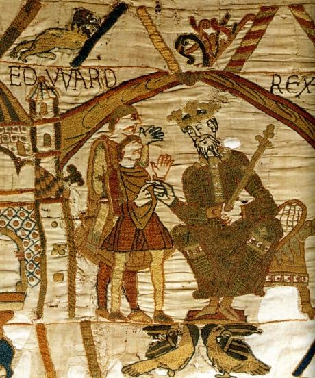 009[amolenuvolette.it]1075 1100 le roi edouard conversant avec harold tapisserie de bayeux.jpg