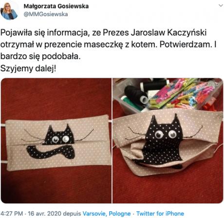 Screenshot_2020-04-17 Małgorzata Gosiewska sur Twitter Pojawiła się informacja, ze Prezes Jaroslaw Kaczyński otrzymał w pre[...].png